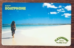 BRITISH VIRGIN ISLANDS CCT BOATPHONE 20$ SAMPLE PREPAID PRÉPAYÉE EURO PHONECARD CARD - Islas Virgenes