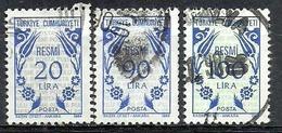 Turkey; 1984 Official Stamps - Sellos De Servicio
