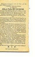 DOODSPRENTje  Militair DE GUSSEM   Bavegem 1916   Bombardement Florennes    1944 - Religion & Esotérisme