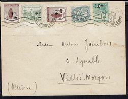 Fr - 1925 - Affranchissement Orphelins  + Blanc Sur Enveloppe De Paris Pour Villié-Morgon - B/TB - - Storia Postale