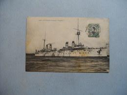 """Le Croiseur Cuirassé """" DUPLEIX  """"    -  écrite De SAIGON  -  1913  - - Warships"""