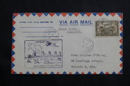 CANADA - Enveloppe 1er Vol Peace River / Carcajou En 1930, Affranchissement Plaisant - L 61013 - Briefe U. Dokumente