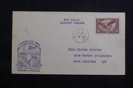 CANADA - Enveloppe 1er Vol Kenora  / Machin En 1936, Affranchissement Plaisant - L 61015 - Briefe U. Dokumente