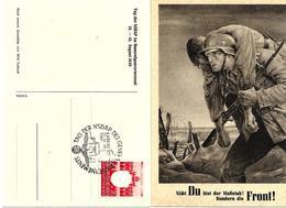 """"""" Tag Der NSDAP Im Generalgouvernement """" Carte Postal, Obliteration Krakau 1943 - Occupation 1938-45"""