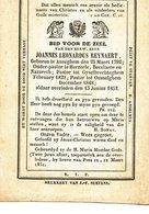 DOODSPRENTje  Pastoor Priester Cure  REYNAERT  ANZEGEM 1792    Landegem  Herzele Becelare Nazaret - Religion & Esotericism