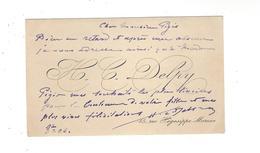 HIPPOLYTE CAMILLE  DELPY  1842 - 1910 Peintre  - Cdv Autographe - Autographes