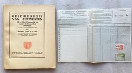 Floris PRIMS - Met Oostenrijk En Onder De Franschen (1715-1814) Economische Orde - Geschiedenis Van ANTWERPEN  IX - 1947 - Historia