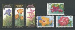 Belgique: 2357/ 2359 + 2589/ 2591 **(Buzin) - 1985-.. Oiseaux (Buzin)