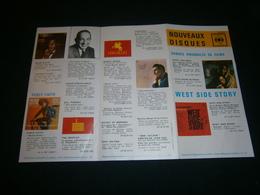 Dépliant Catalogue Disques CBS Odéon Années 60 - Ohne Zuordnung