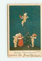 N°15135 - Marie Flatscher - Herzliche Weihnachtsgrüsse - Anges Descendant Du Ciel - Bremen Ratsstuben 1928 - Weihnachten
