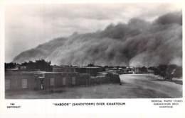 SOUDAN Sudan - Over KHARTOUM : HABOOB ( Sandstorm Tempête De Sable Sandsturm ) CPSM Photo N/B Format CPA - - Soudan