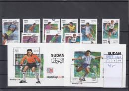 Sudan Michel Cat.No. Mnh/**  481/489 + Sheet 4/5 Soccer - Sudan (1954-...)