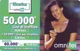 Ricarica Telefonica Omnitel  Lire 60.000 - [2] Tarjetas Móviles, Prepagadas & Recargos