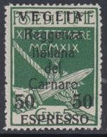 ITALIA - VEGLIA - Espresso N. 2 - Cat. 1125 Euro - Gomma Integra - MNH** - 8. WW I Occupation