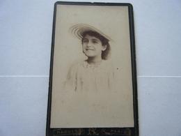 Photo CDV Photographie RAOULT RUE DE BELLEVILLE PARIS - Oud (voor 1900)