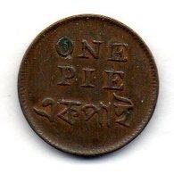 BRITISH INDIA - BENGAL PRESIDENCY - CALCUTTA, 1 Pie, Copper, Year 1831 , KM #58 - Indien