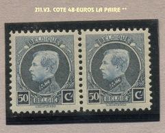 211.V3.  50c Montenez Paire **  Cote  48 Euros. SUPERBE. - Errors And Oddities