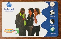 ZAMBIE ZAMBIA TELECEL MAGO 5 RECHARGE GSM PRÉPAYÉE PREPAID PAS TÉLÉCARTE - Zambie