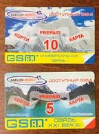 TADJIKISTAN 2 RECHARGES GSM PRÉPAYÉE PREPAID PAS TÉLÉCARTE PHONECARD - Tadzjikistan