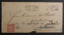 Norddeutscher Postbezirk, Interessanter Weitergeleiteter Brief MÜNSTER, BERLIN, NOTTULN - Conf. De L' All. Du Nord