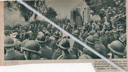 OUDENAARDE..1937.. PLECHTIGE ONTHULLING VAN HET HERDENKINGSMONUMENT DER AMERIKAANSE GESNEUVELDE SOLDATEN - Old Paper