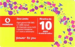 Ricarica Telefonica Vodafone Euro 10 - [2] Tarjetas Móviles, Prepagadas & Recargos