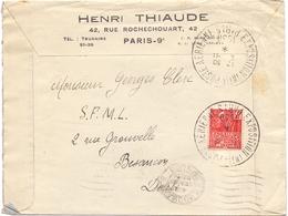 France Obl Cachet Exposition Internationale Poste Aérienne Paris 1930 Femme Fachi - 1921-1960: Modern Tijdperk