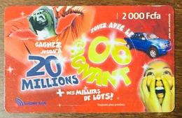GABON LIBERTIS 2000FCFA EXP LE 31/12/2006 CARTE PRÉPAYÉE PREPAID PAS TÉLÉCARTE PHONECARD - Gabun