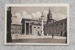 Cartolina Illustrata Forlì - Il Duomo, Per Giarre 1935 - Forli