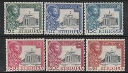 ETHIOPIE - N°296/301 **/* (1951) Bataille D'Adowa - Etiopia