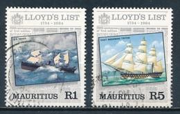 °°° MAURITIUS - Y&T N°599/600 - 1984 °°° - Mauritius (1968-...)