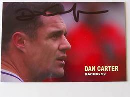 Dan CARTER - Signé / Hand Signed / Dédicace Authentique / Autographe - Rugby