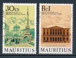 °°° MAURITIUS - Y&T N°717/18 - 1989 °°° - Mauritius (1968-...)