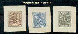 Réimpressions De 1895  Petite Charnière. Cote 82-car Découpés - Belgique