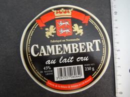 Etiquette De  Camembert Laiterie De St Hilaire De Briouze - Cheese