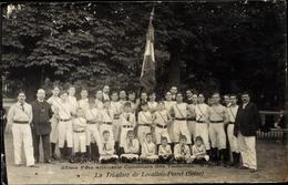 Cp Levallois Perret Hauts De Seine, Union Des Societes De Preparation Militaire De France - France