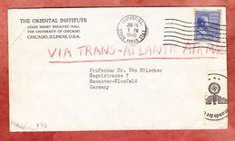 Luftpost, Roosevelt, Oriental Institute Chicago, Nach Hannover, OKW Zensur, 1940 (94152) - Covers & Documents