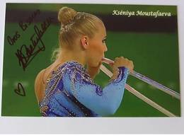 GRS - Kséniya MOUSTAFAEVA - Signé / Hand Signed / Dédicace Authentique / Autographe - Gymnastique