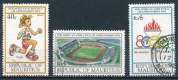 °°° MAURITIUS - Y&T N°777/78/80 - 1992 °°° - Mauritius (1968-...)