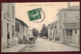 CHAMPIER Route De Lyon Animée Gendarmerie Gendarme * Isère 38260 * Arrondissement  Vienne - Autres Communes