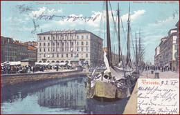 Trieste (Triest) * Canal Grande, Segelboot, Schiffe, Hafen, Platz * Italien * AK2639 - Trieste