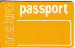 GREECE - Makro Super Markets, Yellow Magnetic Member Card, Unused - Non Classificati