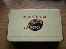 Panter Mignon Panter Sigarenfabriken H J Van Schuppen N V Veendaal Holland - Boites à Tabac Vides