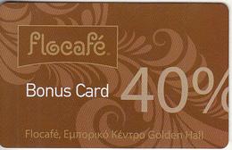 GREECE - Flocafe/Golden Hall Shopping Centre, Bonus Card 40%, Unused - Non Classificati