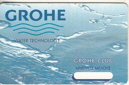 GREECE - Grohe, Member Card, Unused - Non Classificati