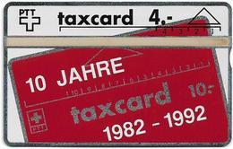 Switzerland - Swisscom (L&G) - SVT - Jahreskarte 1992 - 205L - 4Fr, 1.500ex, Mint - Suiza