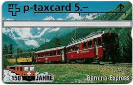 Switzerland - Swisscom (L&G) - 150 Jahre Eisenbahn, Bernina Express - 501L - 5Fr, 2.500ex, Mint - Suiza