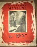 """Rare Programme Magazine Du REX - Cinéma - Film """"Mensonges"""" De Jean Stelli Avec Gaby Morlay Et Jean Marchat 1945 - Programmes"""