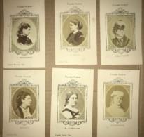 Lot De 6 Photos De Célébrités Du 19e Siècle Dont Sarah Bernhardt - Figaro Album - Artiste Opera Theatre - Photographs