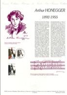 DOCUMENT FDC 1992 ARTHUR HONEGGER - Documenten Van De Post